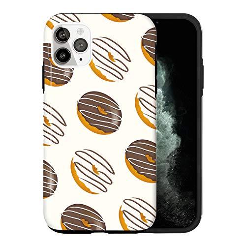 iPhone 12 Funda, Coffee Donuts KU047_5 Caso per iPhone 12 Protector, Gorgeous Phone Cover, Luxury Design [Caso Anti-Rasguño Protección de Esquina Protector Completo]