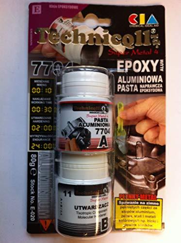 1x Epoxy Aluminium Paste für Befestigung Risse in Metall Teilen Motorblock Köpfe Broken Fäden etc. 100g NEW
