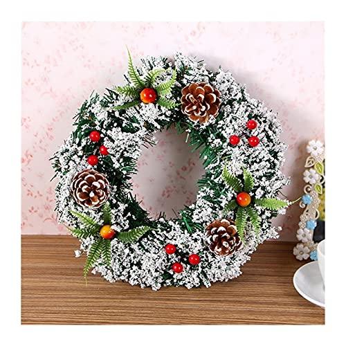 baidicheng Corona de Navidad de moda para fiestas de Navidad, anillo de flores, hermosa guirnalda (diámetro de 40 cm)