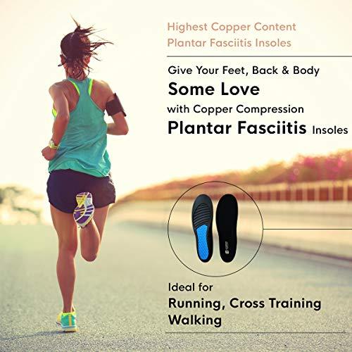 Copper Compression Plantar Fasciitis Feet Insoles