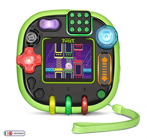 LeapFrog Rockit Twist Kids Educational Toy, Travel Games for Kids with 12 Games to Learn Maths, Literacy, Science & Creative Skills, Children Handheld Console with Games for 4, 5, 6+ Year Olds, Green