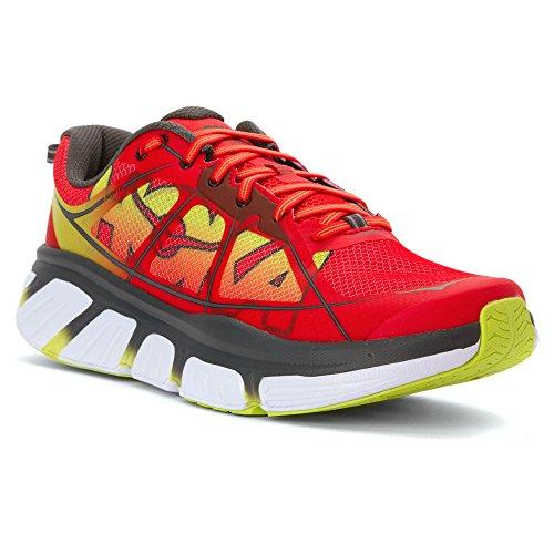 HOKA ONE ONE Men's Infinite Running Shoe Poppy Red/Acid Size 9 M US