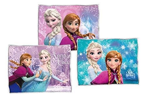 Star Licensing 3 TOVAGLIETTE in Tessuto da TAVOLA - Disney Frozen - Elsa e Anna