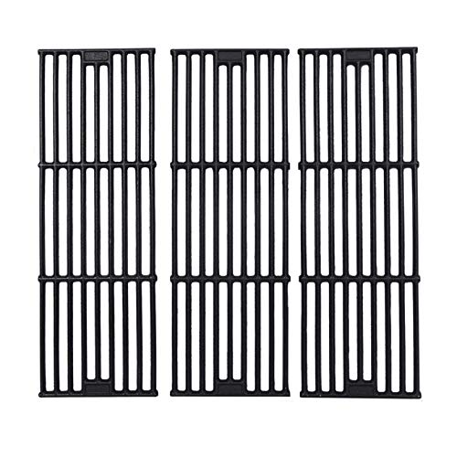 """GGC Grill Grates Replacement for Chargriller 3001,5050,3008,3030,3725,4000,5252,King Griller 3008, 5252 and Others, Set of 3-Pack Porcelain coated cast iron Cooking Grid Grates(19 3/4"""" x 6 3/4"""" Each)"""