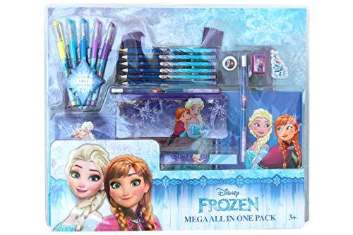 Disney 20 TLG Frozen ELSA Malset Schulset Etui Tasche Notizbuch Stift Set 5080