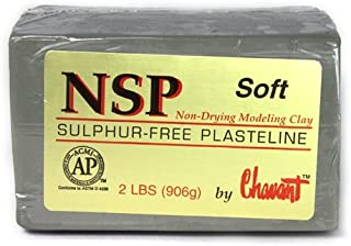 Chavant Clay - NSP Soft Green - Sculpting and Modeling Clay (1/4 Case)
