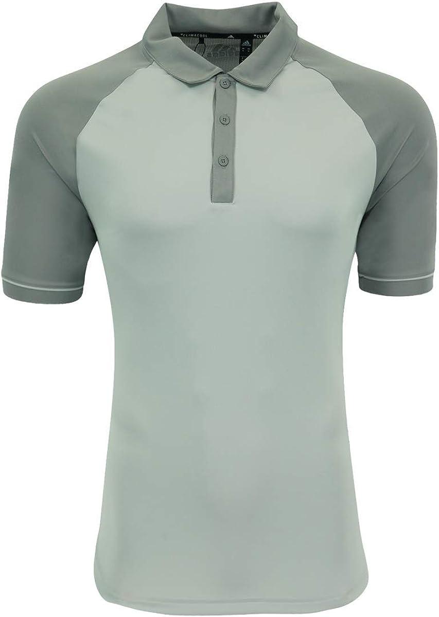 adidas Mens Climacool Jacquard Raglan Polo (A207) -Grey Two/G -M