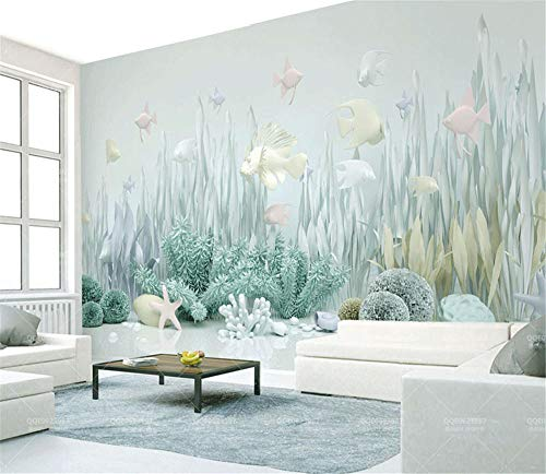 Wandbild Ocean World 3D Cartoon Wallpaper Kinderzimmer Wandbild Wallpaper-Über 150 * 105 cm