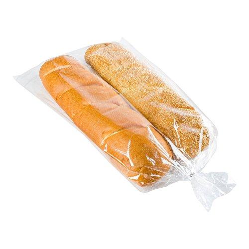 Bag Tek Brotbeutel, 61 x 33 cm, 250 Stück mit Dochtspender, Brottüten, mikroperforiert, gefriergeeignet, transparente Plastik-Baugetaschen, Einwegbeutel für Restaurants