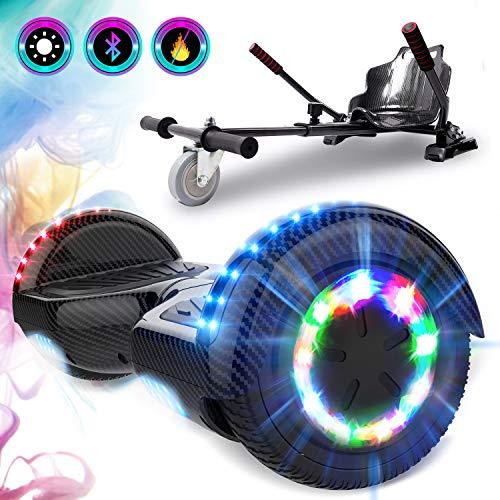 GeekMe Gyropode 6.5 Pouce avec hoverkart Scooter électrique Auto-équilibré Bluetooth...