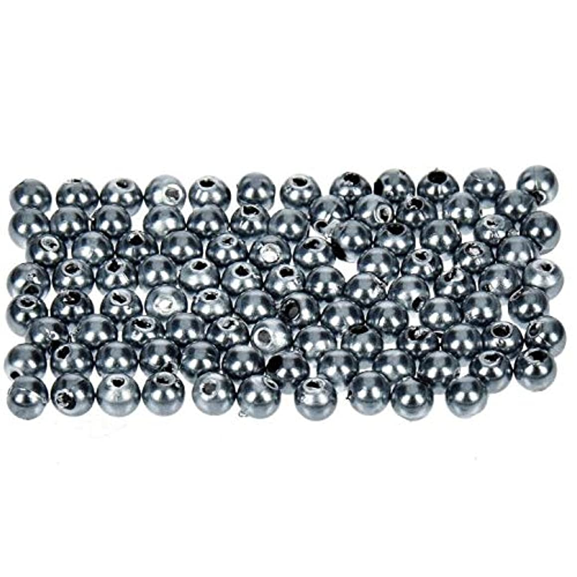 Efco Wax Beads, Plastic, Anthracite, 4 mm Diameter, 100-Piece