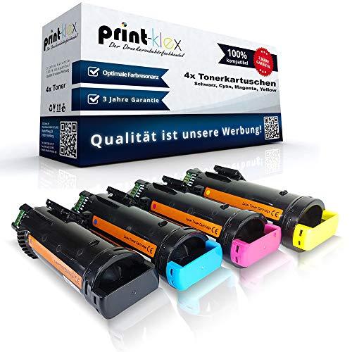 4x Kompatible Tonerkartuschen für Xerox WorkCentre 6515DN 6515DNI 6515DNIS 6515DNM 6515DNMIS 6515DNS 6515N 6515NS 6515Series Schwarz Blau Rot Gelb - Color Light Serie