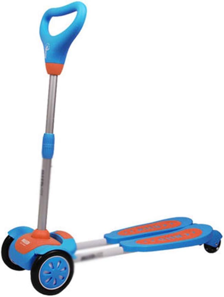 JYTB Flicker Wiggle Scissor Scooter, 4 Ruedas Plegable Speeder Push Swing Scooter Tri Slider para niños de 3 a 6 años