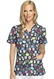 Dickies Women's V-Neck Top, Have A Laugh, X-Small