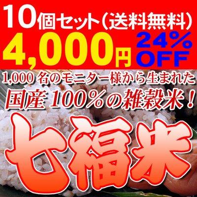 国内産100%七福米  300gx10