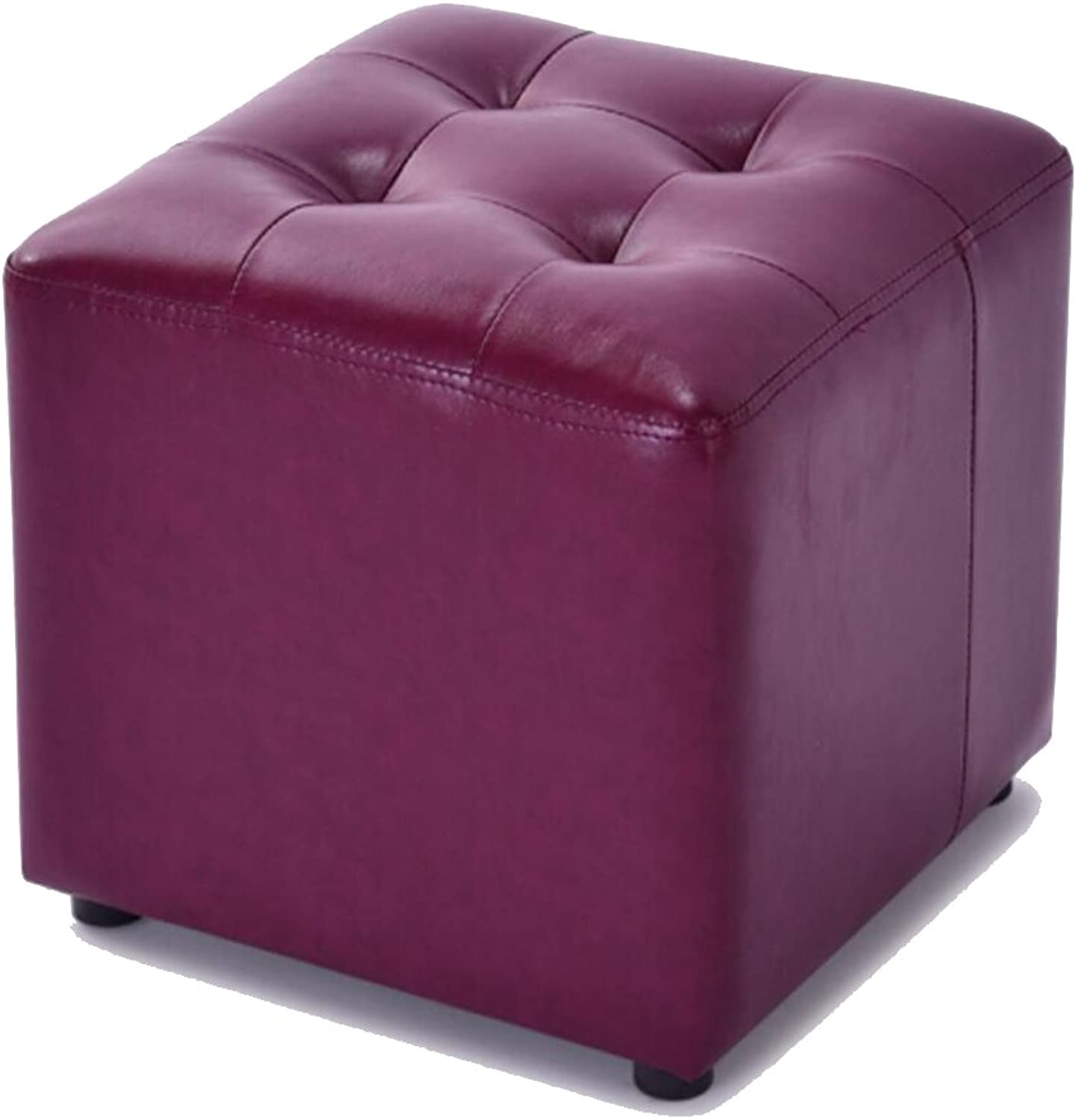 Solid color Sofa Stool, Fashion Creative Makeup Stool, Solid Wood Square Stool, shoes Bench (36  36  33cm) (color   C)
