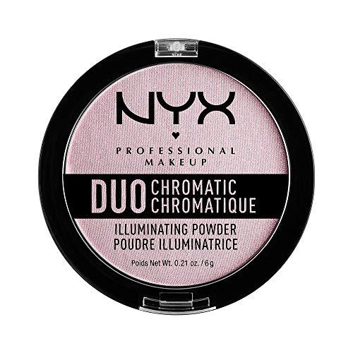 NYX PROFESSIONAL MAKEUP Duo Chromatic Illuminating Powder, Lavender Steel
