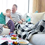 """PediPocket Patented Foot Pocket Blanket – Pleasingly Plaid – 50"""" x 70"""" with 20"""" Deep Foot Pocket, Plush Velvety Fleece Blanket - Everyday Luxurious Comfort, Machine Washable, Great Gift Idea"""