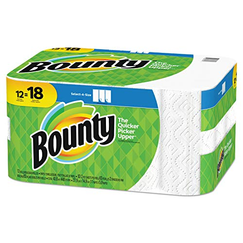 Bounty Select-a-Size Paper Towels, White, 12 Rolls by Bounty