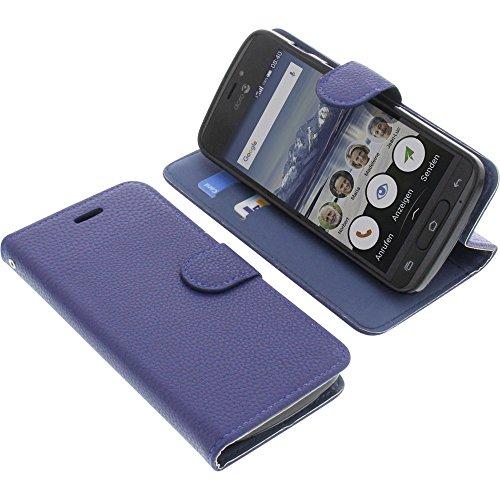 foto-kontor Tasche für Doro 8040 Book Style blau Schutz Hülle Buch