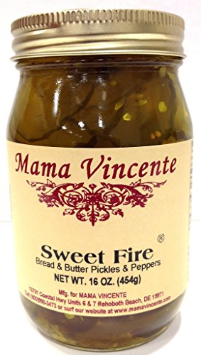 Mama Vincente Sweet Fire Bread & Butter Pickles & Peppers - (2 Pack of 16 Oz. Bottles)