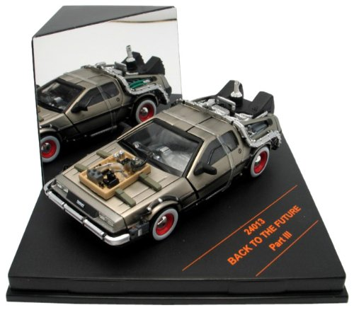Miniatura Delorean Back To The Future III Velho Oeste 1:43 Vitesse Diecast Colecione Express