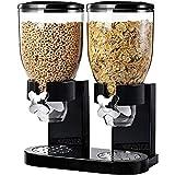 Mediawave Store - Cereal Dispenser Doppio Contenitore 8 LT per Cereali Frutta secca Caramelle