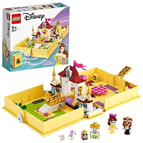 LEGO 43177 Disney Princess Cuentos e Historias: Bella, Juego de Viaje, Juguete de La Bella y La Bestia con Mini Muñeca de Princesa