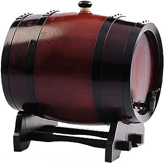 Tonneau de Vin en chêne Fût de chêne Chêne Whiskey vieillissement Barrel, Bois Chêne Vintage Bois vin Barrel Distributeur,...