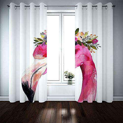 Nordic Minimalist Polyester Blackout Curtains, 3D Digital Animal Series, Printed Curtain Cloth, Waterproof And Mildew Proof For Bedroom, Living Room And Bathroom (2 Pieces)