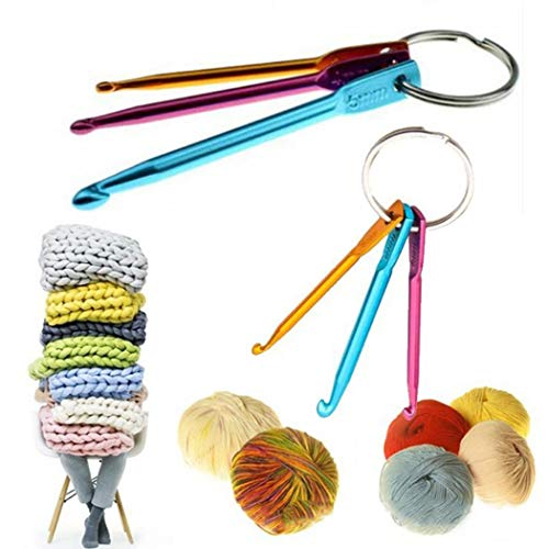 Find Bargain Xuprie Colored Alumina Single Head Knitted Crochet Sweater Needle Sewing Machine Needle...