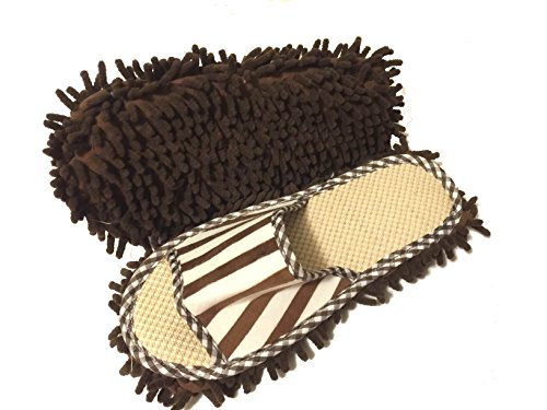A&S Creavention Microfiber Cleaning Mop Slippers (Brown) - http://coolthings.us