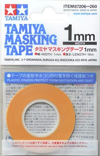 TAMIYA TAM87206 87206 Masking Tape 1 mm/18m, Modellbau, Zubehör