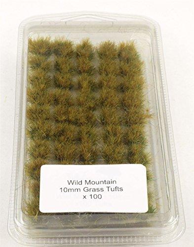 War World Gaming 10mm Wild Berg Selbstklebende Statische Grasbüschel x 100 - Modellbau Tabletop Gelände Diorama Geländebau