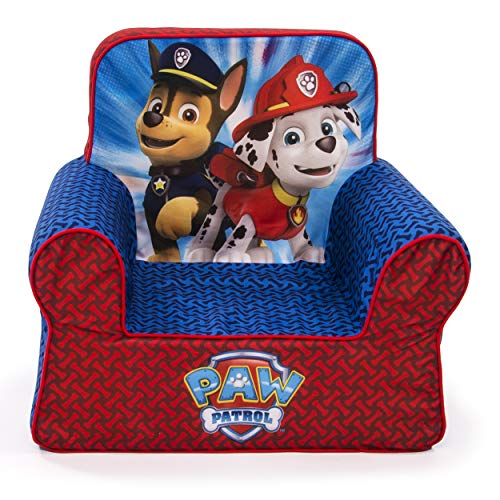 Marshmallow Furniture Comfy Foam Toddler Chair Kid's Furniture for Ages 2 Years Old and Up, Nickelodeon Paw Patrol