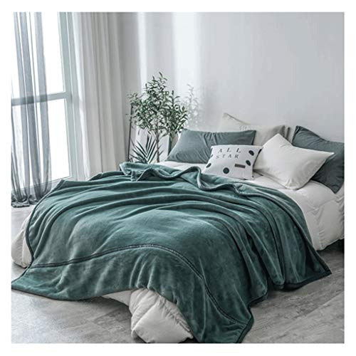 Deken Quilt Verdikt Zacht Koraal Fleece Eenvoudige Kleur Nap Air Conditioner Was LITTLE