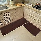 48x20 Inch/30X20 Inch Kitchen Rug Mats Made of 100% Polypropylene 2 Pieces Soft Kitchen Mat...