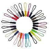 50 Pieza del cordón de la Cremallera Tire Ropa Accesorios Bolsa Mochila Zip Cuerda del Tirador de la Cremallera de Bricolaje Cabeza Lazo de la Correa regulador de Color Aleatorio