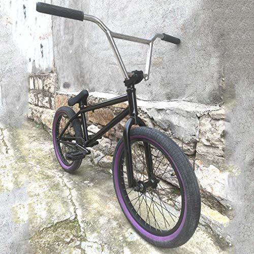 GASLIKE Bicicleta BMX Freestyle - Manillar CR-MO de 9 Pulgadas y 4 Piezas - Neumáticos de 20 × 2,3 Pulgadas - Cuadro y Horquilla de Acero al Cromo-molibdeno para Principiantes y Ciclistas avanzados
