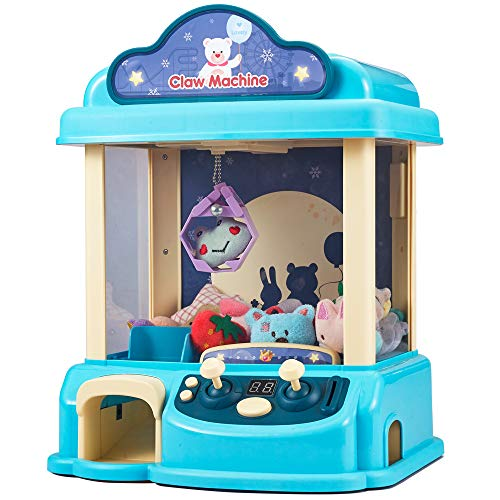GUOCHENG Claw MachineC3 New Upgrade Claw ToyManual Mini Claw Machine Intelligent System with Music and Lighting Giving Children The Best Gift Blue