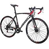 Road Bike TSM550 Bike 21 Speed Dual Disc Brake 700C Wheels Road Bicycle … (54-Spoke WHEEL-30)
