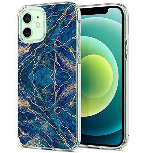 20-Danie Carcasa transparente para iPhone 12 Mini, funda protectora transparente de cristal con mármol, funda de silicona TPU transparente, resistente a los arañazos 7 L