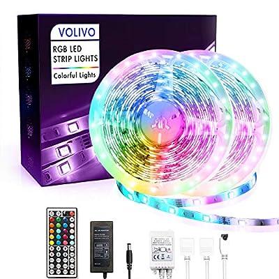 Volivo Waterproof Led Lights for Bedroom 32.8ft...