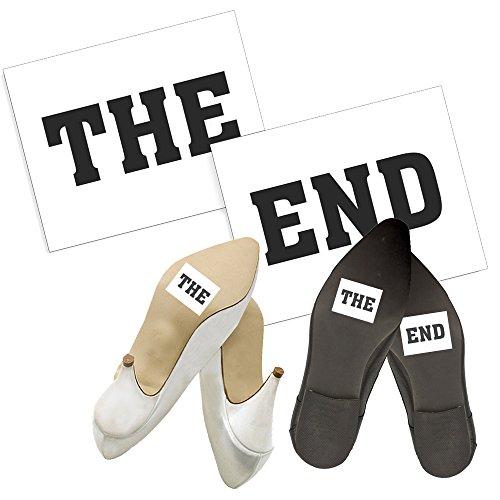 Adesivi Scarpe THE END per Matrimonio