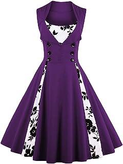 فستان منقط للنساء بطراز كلاسيكي قديم مناسب لحفلات الكوكتيل وحفلات رقص السوينغ من كيل ريل