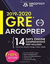 GRE 2019 & 2020 by ArgoPrep: Premium GRE Prep + 14 Days Online Comprehensive Prep Included + Videos + Strategies + Practice Tests and Quizzes