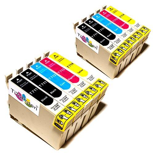 10x Epson Stylus Office BX300F Kompatible Druckerpatronen - Cyan/Magenta/Gelb/Schwarz - PATRONEN MIT NEUESTEN CHIP