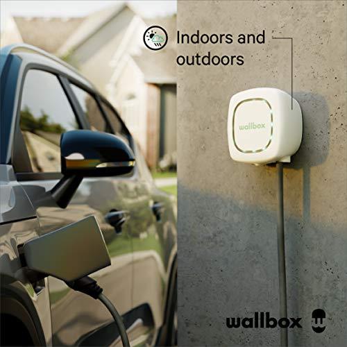 Wallbox Pulsar Ladegerät für Elektroautos E-Autos-Ladestation (EV Charging Station Ladeeinheit) Typ 1. Maximale Leistung 7,4 kW. (Weiß, Kabel 5 Meter) - 4