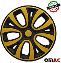 yellow hubcaps
