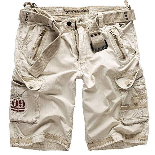 Trooper Royal Shorts Herren, Royal White 5XL